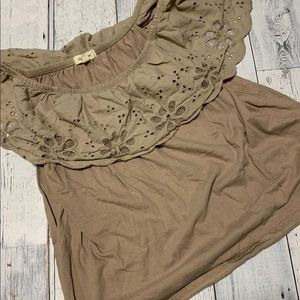 5 for $25 Paper + tee taupe off the shoulder